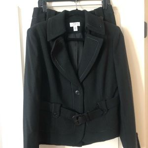 Ann Taylor Loft Black Suit Size 10